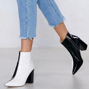 Nasty Gal Two Tone Boots